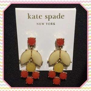 Kate Spade gold plated earrings